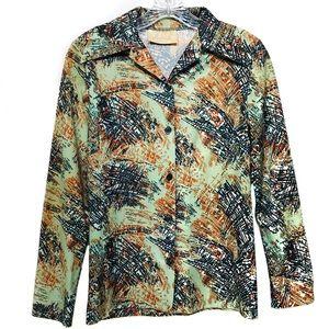 Mar-Lek vintage button up blouse no size/care tag